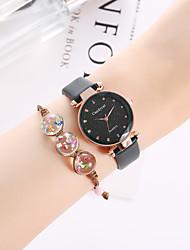 cheap -Women's Bracelet Watch Quartz Watches Quartz Vintage Style Antique Chronograph Analog Blushing Pink Green Gray / PU Leather