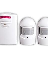 Недорогие -один на два инфракрасный беспроводной подъездной сигнал тревоги аварийный комплект безопасности светодиодный датчик дверного звонка лейн diy дверной звонок сигнализация голосовой подсказки