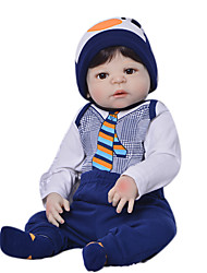 cheap -Reborn Baby Dolls Clothes Reborn Doll Accesories Cotton Fabric for 22-24 Inch Reborn Doll Not Include Reborn Doll Penguin Soft Pure Handmade Boys' 5 pcs