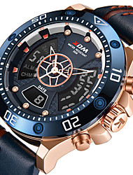 cheap -KADEMAN Men's Sport Watch Quartz Modern Style Sporty Cool Water Resistant / Waterproof Analog Black / Silver Black / Yellow Blue / Genuine Leather / Calendar / date / day / Noctilucent