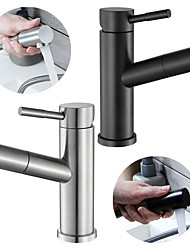 cheap -Bathroom Sink Faucet - Pull out Chrome Other Single Handle One HoleBath Taps