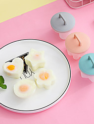 cheap -4pcs Egg Steamer Mold Creative Non-stick Cup Breakfast Omelette Kitchen Baking Accessories Household Heat-resistant Steamed Egg Mould Random Color