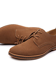 cheap -Men's Dress Shoes Comfort Shoes Spring / Fall Classic / Casual / British Daily Outdoor Office & Career Oxfords Suede Wear Proof Black / Yellow / Camel / EU42