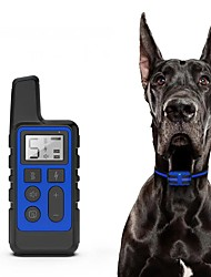cheap -Dog Training Collar 500M Pet Electric Remote Control Collar Waterproof Rechargeable Dog Training Tool with LCD Display