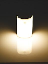 Недорогие -Датчик движения ночник спальня светодиодный usb аккумуляторная крытый автоматический портативный магнитный коридор лампа энергосбережения 2 шт.