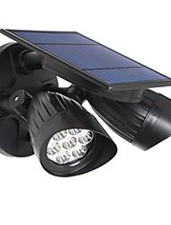 Недорогие -датчик человеческого тела настенный светильник наружное освещение светодиодный уличный фонарь двор лампы вилла двойной головкой солнечный датчик лампы