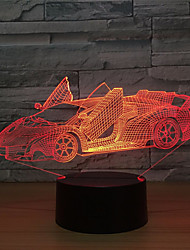 cheap -3D Nightlight Car LED Lighting 3D Cartoon 5 V USB Port 3* AAA Batteries(NO INCLUDE) for Birthday Gifts and Party Favors