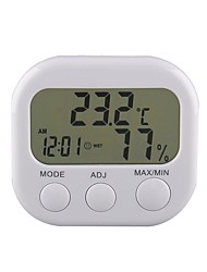 cheap -New Digital Thermometer Humidity Meter HYGRO Hygrometer Air Clock TA638 White