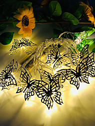 cheap -3M 20LED New Butterfly LED String Lights Three 5th Battery-Powered Wedding Party Holiday Birthday Party Christmas Living Room Bedroom Decoration Light String Without Battery