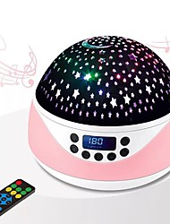 cheap -LED Music Star Projection Light Creative Romantic Rotating Starry Night Light Remote-controlled Timing Projector