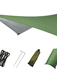 cheap -Hammock Rain Fly Outdoor Breathability Wearable Reusable Adjustable Flexible Folding Polyster for 3 - 4 person Hunting Beach Camping Black Blue Camouflage 230*210 cm