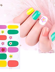 cheap -1 pcs Full Nail Stickers Flower nail art Manicure Pedicure Ergonomic Design / Creative Elegant / Cute Party / Evening / Daily