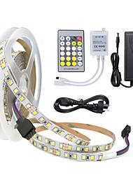 cheap -5m LED Light Strips Light Sets Tiktok Lights 600 LEDs 2835 SMD 8mm 1 24Keys Remote Controller Dual Light Source Color Cuttable Linkable 12 V 1 set Suitable for Vehicles Self-ad