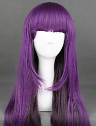 cheap -Cosplay Wig Lolita Curly Cosplay Halloween With Bangs Wig Long Purple Synthetic Hair 25 inch Women's Anime Cosplay Best Quality Purple