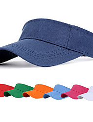 cheap -Men's Women's Tennis Golf Athletic Visor Cap Solid Color UV Sun Protection Breathable Moisture Wicking Spring Summer Sports Outdoor / Cotton