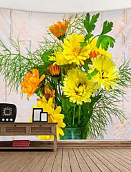 Недорогие -цветочная композиция украшение печатный гобелен декор стены искусства скатерти покрывало одеяло для пикника пляж бросить гобелены красочный спальня зал общежитие гостиная висит
