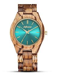 cheap -Men's Sport Watch Quartz Fashion Wooden Analog Green