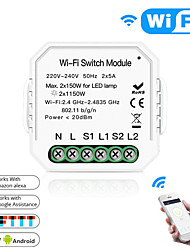 cheap -Tuya2 Way WiFi Switch Independently Controls Smart Switch Support Alexa Google Home
