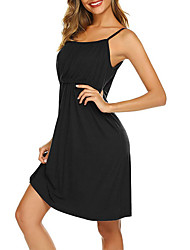 cheap -Women's Strap Dress Knee Length Dress - Sleeveless Solid Color Summer Casual Chinoiserie 2020 Black Dark Gray S M L XL XXL