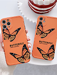 cheap -New retro blue butterfly pink butterfly photo frame anti-fall silicone soft cover for iphone 11Pro MAX XS XR 7 8plus se 2020 phone case