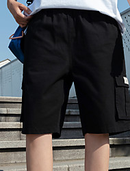 cheap -Men's Basic Daily Holiday Shorts Tactical Cargo Pants - Solid Colored Drawstring Breathable Black Army Green Khaki US32 / UK32 / EU40 / US34 / UK34 / EU42 / US36 / UK36 / EU44
