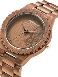 cheap -Men's Sport Watch Quartz Fashion Wooden Analog Brown