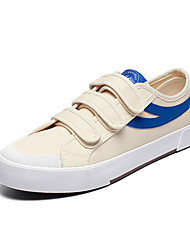 cheap -Men's Summer / Fall Casual / Preppy Daily Outdoor Sneakers Canvas Breathable Non-slipping Black / Red / Blue Striped