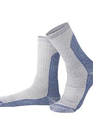 cheap -R-BAO Hiking Socks Socks 1 Pair Breathable Warm Sweat-wicking Comfortable Elastane Woolen Cloth Autumn / Fall Spring Winter for Men's Ski / Snowboard Fishing Climbing Army Green Blue