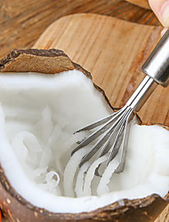 cheap -Coconut Shaver Stainless Steel Kitchen Fruit Tools Fish Skin Scale Scraper Peeler Cleaning Tool Accessories