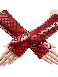 Недорогие -Перчатки Без пальцев Satin Назначение Хвост русалки Косплей Хэллоуин Карнавал Жен. Бижутерия Модное ювелирное украшение