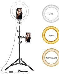 cheap -Selfie Ring Lighting 10 LED Ring Light Photographic with Stand Youtube Makeup Video Studio Tripod Ring Light for Smart Phone