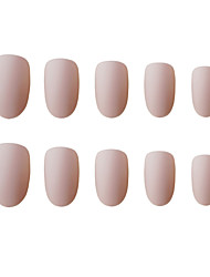 cheap -Nails 2020 24pcs Matte False Nails Round Fake Fingernails Wearing Manicure Pre-design Full Cover Nails Art Tips Sets