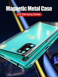 cheap -Magnetic Case for Samsung Galaxy S20 Ultra / S20 Plus / S20 Protection Camera 360 Double Sided Tempered Glass Magnetic Cover Protective Case