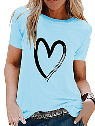 voordelige -Dames Tops Geometrisch T-shirt Ronde hals Dagelijks Wit Zwart Geel Leger Groen Licht Blauw S M L XL 2XL 3XL