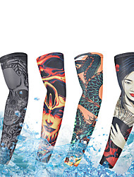 cheap -UV Sun Protection Cooling Arm Sleeves Compression Arm Cover Shield Sleeves Sun Sleeves Lightweight Anti-Slip Ultraviolet Resistant Chinlon Elastane Ice Silk for Fishing Hiking Outdoor Exercise 1 Pair