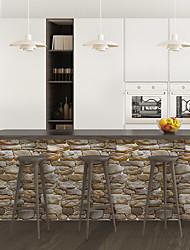 cheap -Rock Pattern PVC Simulation Self-adhesive DIY Decorative Wall Sticker Bar Sticker
