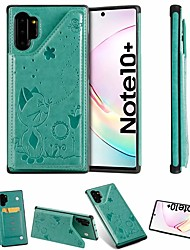 cheap -Case For Samsung Galaxy Note 9 / Note 8 / Samsung Note 10 Card Holder / with Stand Back Cover Cat PU Leather