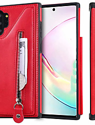 cheap -Case For Samsung Galaxy Note 9 / Note 8 / Samsung Galaxy A50 Card Holder Back Cover Solid Colored PU Leather gor Samsung Note 10 / Note 10 Plus / A30S / A50S