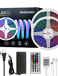 Недорогие -Машанг светодиодные полосы света 32.8ft 10m RGB TIKTOCK водонепроницаемый 300leds smd 5050 с 44 клавишами ик-пульта дистанционного управления и 100-240 В адаптер для домашней спальни кухня
