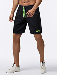 cheap -Men's Sporty Basic Daily Going out Slim Chinos Shorts Pants - Solid Colored Letter Drawstring Outdoor Spring Summer Black US32 / UK32 / EU40 / US34 / UK34 / EU42 / US36 / UK36 / EU44