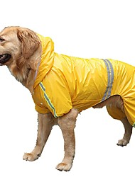 cheap -Dog Rain Coat Puppy Clothes Solid Colored Casual / Daily Outdoor Winter Dog Clothes Puppy Clothes Dog Outfits Yellow Red Blue Costume Large Dog for Girl and Boy Dog Acrylic Fibers Down