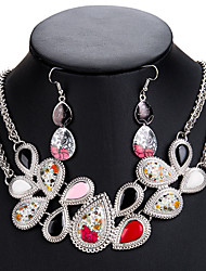 cheap -Women's Jewelry Set Hollow Out Fashion Earrings Jewelry Silver For Festival