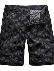 cheap -Men's Basic Daily Holiday Chinos Shorts Pants - Plants Print Breathable Black Khaki Light gray M / US36 / UK36 / EU44 / L / US38 / UK38 / EU46 / XL / US40 / UK40 / EU48