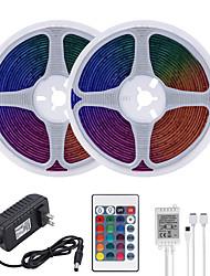 Недорогие -Mashang 32,8 фута 10 м светодиодные полосы света RGB TIKTOCK водонепроницаемый 600 светодиодов SMD 2835 с 24 клавишами ик-пульта дистанционного управления и 100-240 В адаптер для домашней спальни
