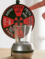 cheap -Drink Game Wheel Of Shots Simple 1 Glass 1 Spinner with Board