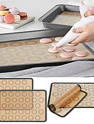 cheap -Baking Mat Non Stick Silicone Dough Macaroon Tray Oven Baking Fondant Pastry Mould Sheet Mat Pad 1Pc 29.5X42CM