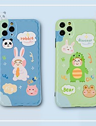 cheap -protective sleeve TPU cartoon Animal Apple iPhone 11 pro Max X  XS  XR XSMax 8p  8  SE (2020)  soft shell iPhone case