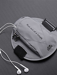 cheap -Phone Armband Running Armband for Running Hiking Outdoor Exercise Traveling Sports Bag Reflective Adjustable Waterproof Waterproof Material Men's Women's Running Bag Adults