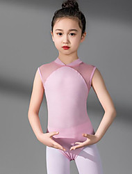 cheap -Ballet Leotard / Onesie Split Joint Girls' Training Performance Sleeveless High Spandex Tulle