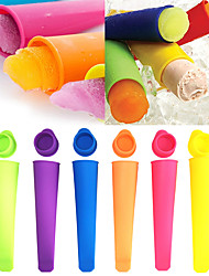 cheap -Creative DIY Ice Cream Ice Mold Silicone Mold Silicone Handheld Popsicle Mold Tray Moldes De Silicon Para Helados Drop Shipping